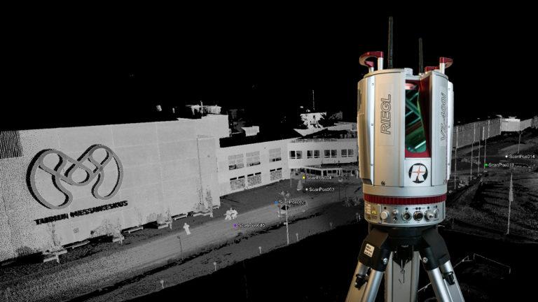Westface käyttää alan tuoreinta teknologiaa, Riegl VZ-400i laserskanneria.